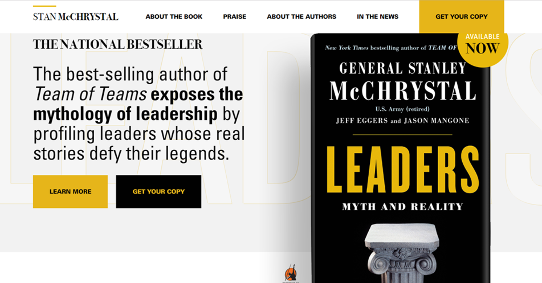 "Gen. Stanley McChrystal Releases ""Leaders: Myth and Reality"""